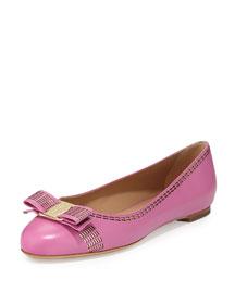 Varina Stitch Bow Ballerina Flat, Pink