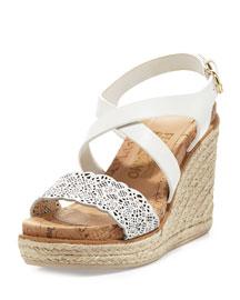 Gioela Espadrille Wedge Sandal, Biscotti