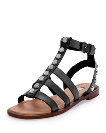 Studded Leather Gladiator Sandal