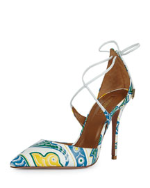 Matilde Printed Leather d'Orsay Pump, Multi