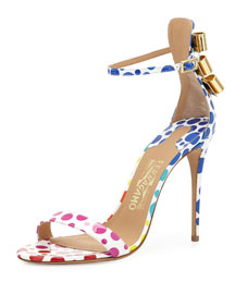 Angie Spotted Patent d'Orsay Sandal, Multi