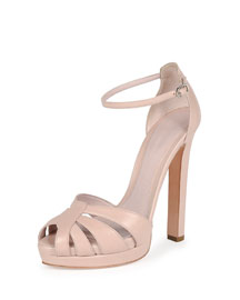 Platform Leather d'Orsay Sandal, Patchouli