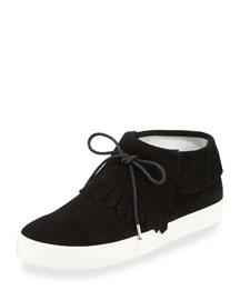 Luca Fringe High-Top Sneaker, Black