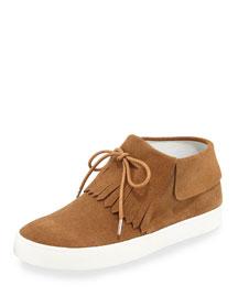 Luca Fringe High-Top Sneaker, Brown