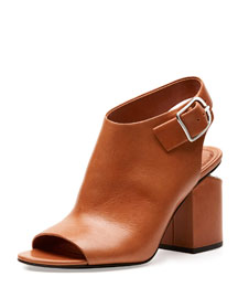 Nadia Leather Mule Sandal, Natural