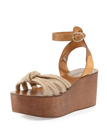Zia Knotted Rope Sandal, Natural
