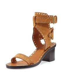 Jaeryn Grommet City Sandal, Peach