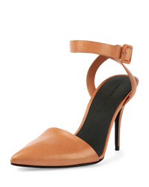 Lovisa Leather Pointed-Toe Pump, Natural