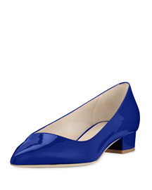 Patent Asymmetric-Collar 25mm Pump, Blue