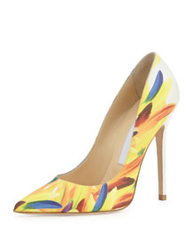 Abel Printed Leather 100mm Pump, Multi
