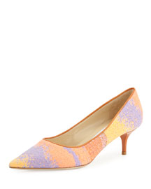 Aza Woven Multicolor 50mm Pump, Spice Mix