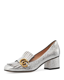 Marmont Metallic Loafer Pump, Gold
