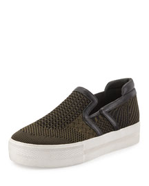 Jeday Knit Slip-On Sneaker, Army/Black