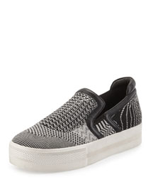 Jeday Knit Slip-On Sneaker, Black/White
