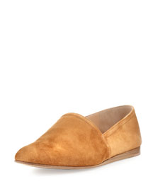 Suede Slip-On Flat, Black
