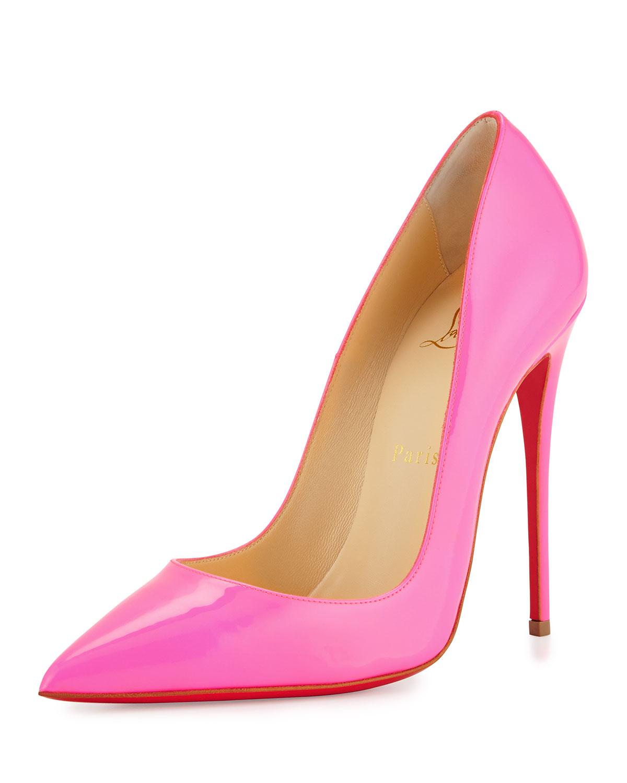 Christian Louboutin So Kate Patent 120mm Red Sole Pump, Shocking Pink, Women's, Size: 36.0B/6.0B