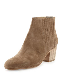 Haider Gored Suede Ankle Boot, Flint