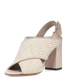 Faine Woven Jute Sandal, Natural/Light