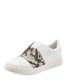 Vista Laceless Leather Sneaker, Plaster/Black