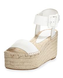 Abby Platform Espadrille Sandal, Plaster