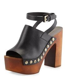 Quella Platform Clog Sandal, Black