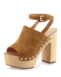 Quella Platform Clog Sandal, Caramel