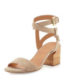 Rina Suede City Sandal, Sepia