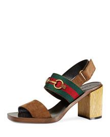 Querelle Suede Web Sandal, Marron Glace