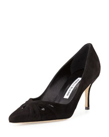 Marola Suede Teardrop Pump, Black