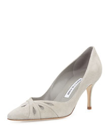 Marola Suede Teardrop Pump, Gray
