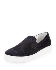 Suede Skate Sneaker, Black/White