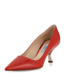 Patent Inverted-Heel 65mm Pump, Lacca
