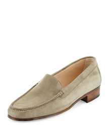 Suede Venetian Loafer, Denim