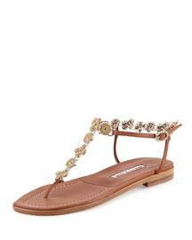 Curtiusmod Chain Thong Sandal, Gold