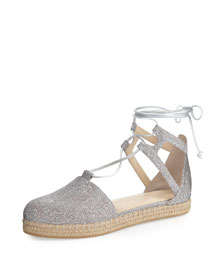 Walkmyway Metallic Fabric Espadrille Flat, Multi