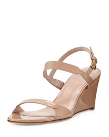 Nolo Patent Demi-Wedge Sandal, Adobe