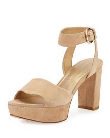 Realdeal Suede Platform Sandal, Skin