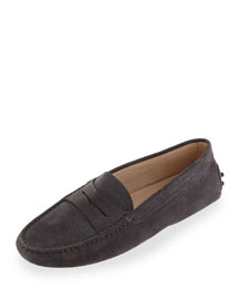 Suede Gommini Moccasin, Gray