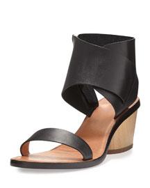 Antonia Block-Heel Sandal, Black