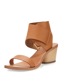 Antonia Block-Heel Sandal, Tan