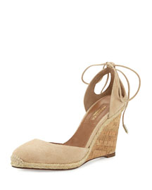 Palm Beach Metallic Espadrille Sandal, Nude