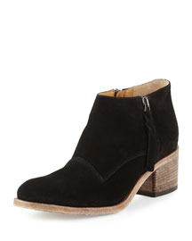 Capricia Suede Ankle Boot, Black