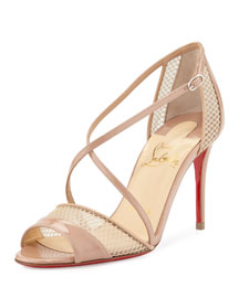 Slikova Strappy Red Sole Sandal, Nude