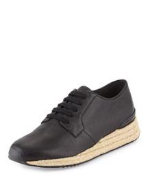 Rayner Leather Trainer Sneaker, Black