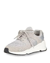 Mood Metallic Lace-Up Platform Sneaker, Marble