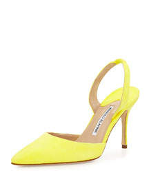 Carolyne 90mm Suede Halter Pump, Yellow