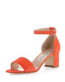 Lauratomod Suede d'Orsay Sandal, Coral