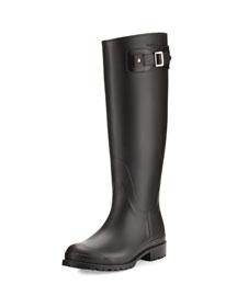 Festival Tall Rubber Rain Boot, Black