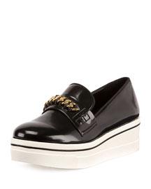 Binx Curb-Chain Platform Sneaker, Black