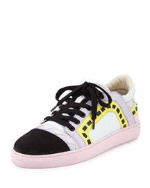 Riko Leather Low-Top Sneaker, Pastel